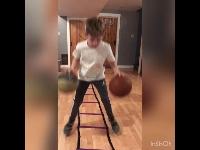 Basketball drill; Steph Curry agility ladder drills