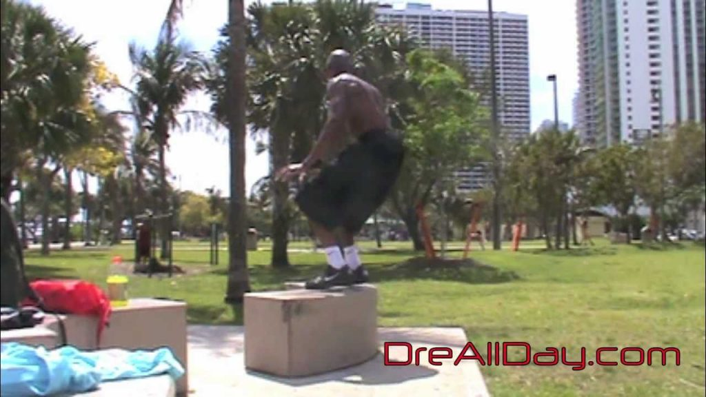 Dre Baldwin: Bench Double-Hop, 180º Jump-Catch Pt. 1 | Agility Quickness Vertical Drill NBA Fit