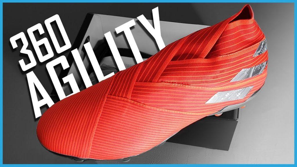 Adidas Nemeziz 19+ Unboxing | Laceless Red Nemeziz Football Boots | 360 Agility Bandage